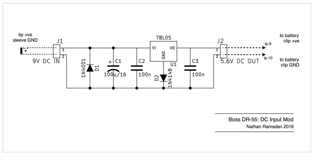 medium resolution of boss dr 55 dc input mod schematic