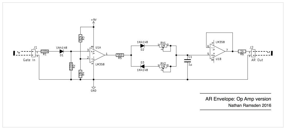 medium resolution of envelope circuits a simple ar design using op amps