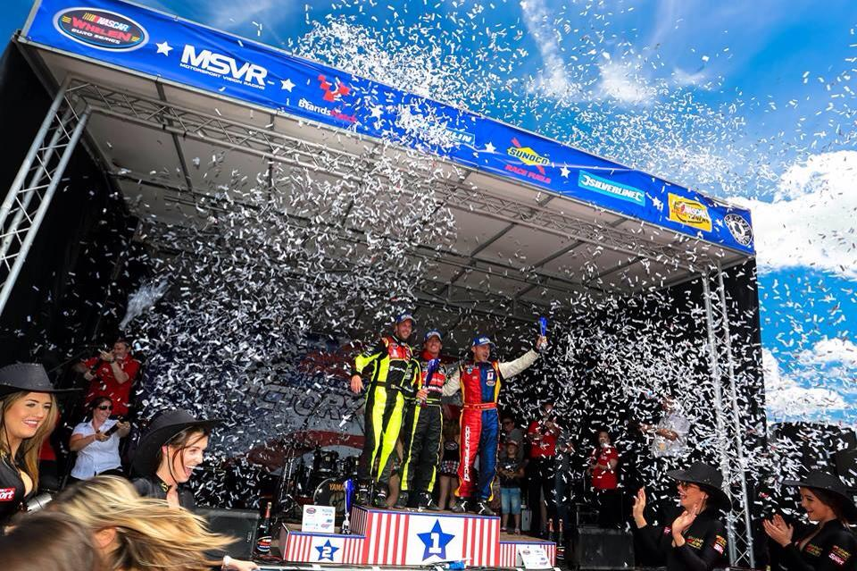 PK Carsport - NASCAR euro - Anthony Kimpen Elite - Chevrolet V8 Engine - Celebrating - Syntix Pro 15W50 - Syntix Innovative Lubricants