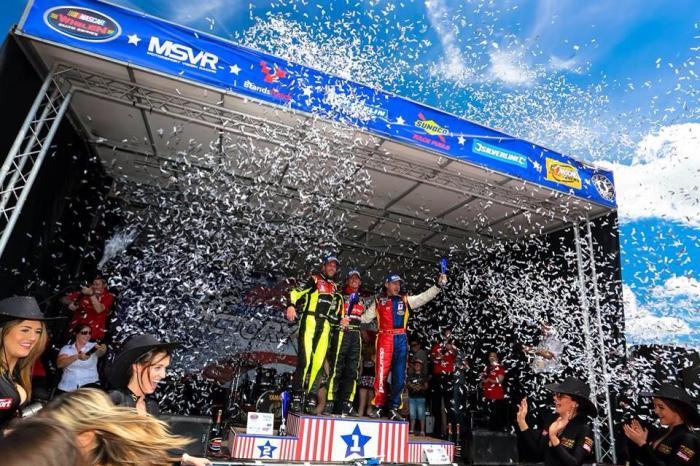 PK Carsport - NASCAR euro - Anthony Kimpen Elite - Chevrolet V8 Engine - Celebrating - Syntix Pro 15W50 - Syntix Innovative Lubricants