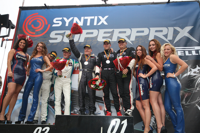 Syntix Superprix in Zolder - Supercar Challenge powered by Pirelli - Final podium - Syntix Innovative Lubricants