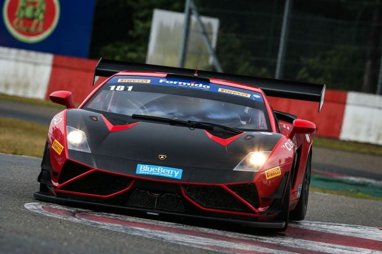 Syntix Superprix in Zolder - Supercar Challenge powered by Pirelli - Red and black Lamborghini Gallardo - Syntix Innovative Lubricants