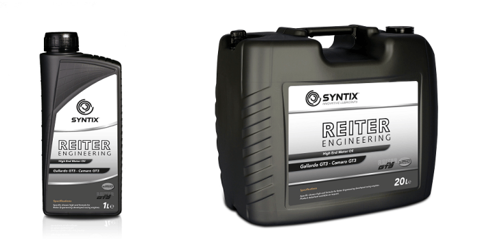 Reiter Engineering - High End Motor Oil for Lamborghini Gallardo GT3 and Camaro GT3 - Syntix Join Label - Syntix Innovative Lubricants