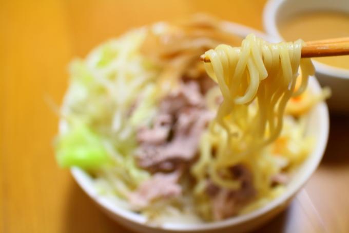 自作・デカ盛りつけ麺4