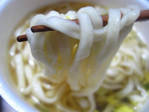 日清どん兵衛年明けうどん 麺アップ