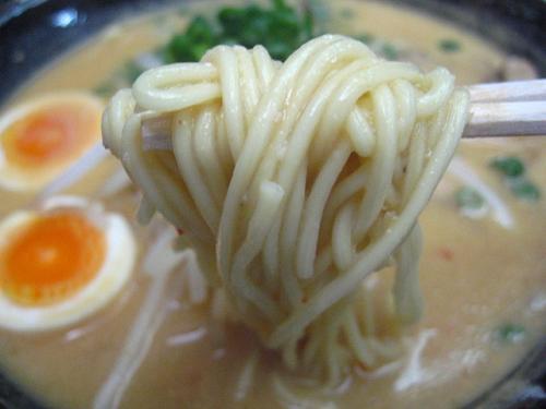 ラーメン・牛すじ どば みそラーメン 麺アップ