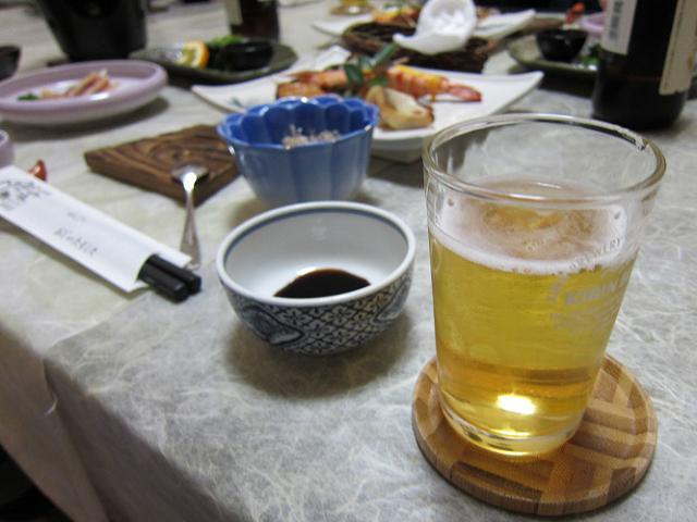 2日目!晩ごはん!おビール!