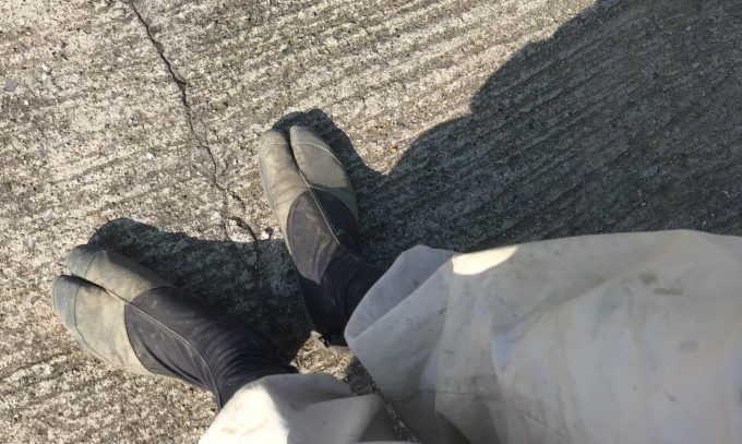 農家の地下足袋