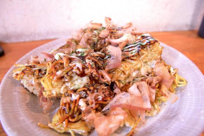 高知市 おかもと食堂 お好み焼き ミックス