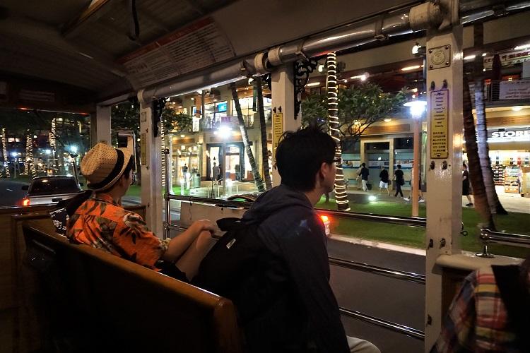 トロリーバスからの風景