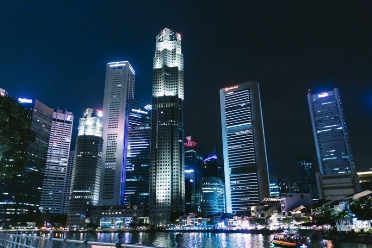 シンガポールのビル群(夜景)