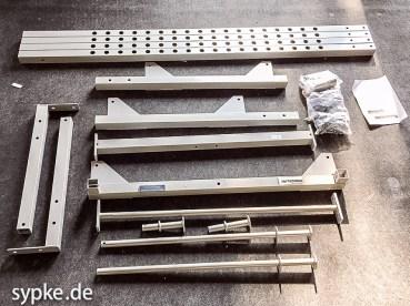 Power Rack BodySolid Powerline PPR200X - Alle Bauteile
