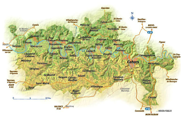 Cahors Map