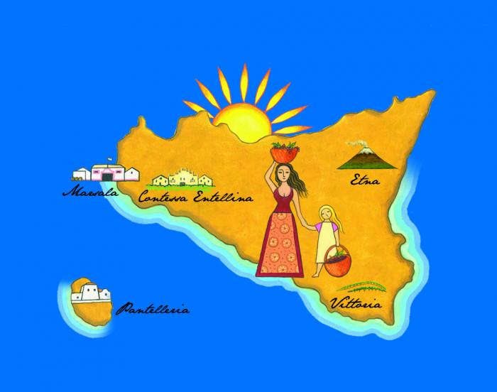 Donnafugata Sicily Map