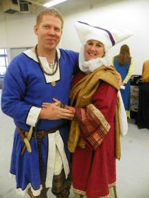 """The Geoffrey and I. My propoloma, rose delmatikion, and mint kamision with my gold loros. My """"casual"""" garb."""