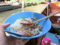 Boat Soup Noodle at Floating Market (50 bahts per dish)