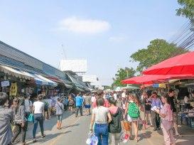 A Busy Sunday Afternoon at Chatuchak Weekend Market, Bangkok