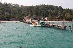 Koh Toch pier at Koh Rong