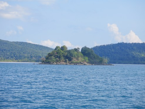 Small island where we go snorkeling