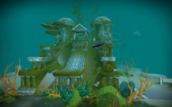 Vashj'ir ruins - can you see the Whale Shark?