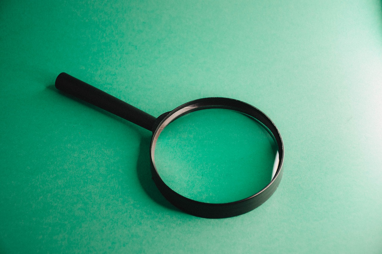 magnifying glass, research, find
