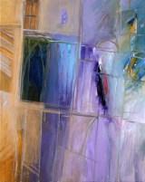Hadi Toron. My Lilac Town. 2008. 30x24 inches. Acrylic on canvas