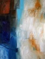 Hadi Toron. The Visit of Al-Burakh. 2008. 48x36 inches. Acrylic on canvas