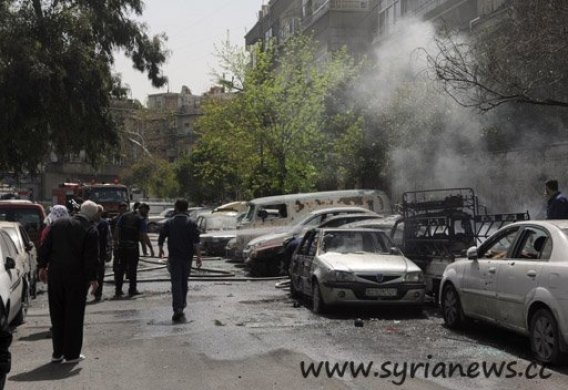 Mortar Attack in Damascus (Archive, July 4)