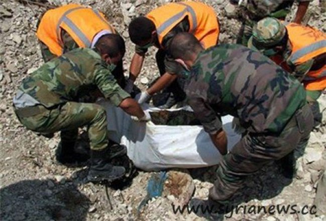 Syria: Mass Grave withcharredSyrian citizens in Latakia (Source: FNA)