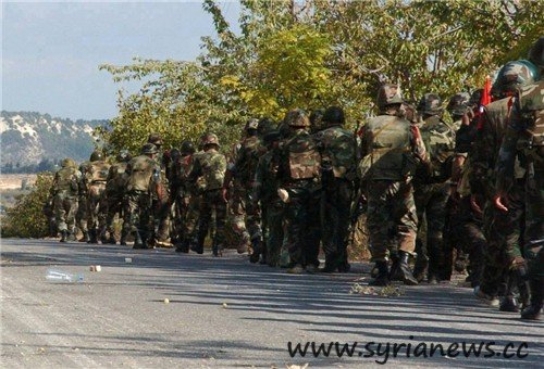 Syrian Soldiers in Daraa (Source: FNA)