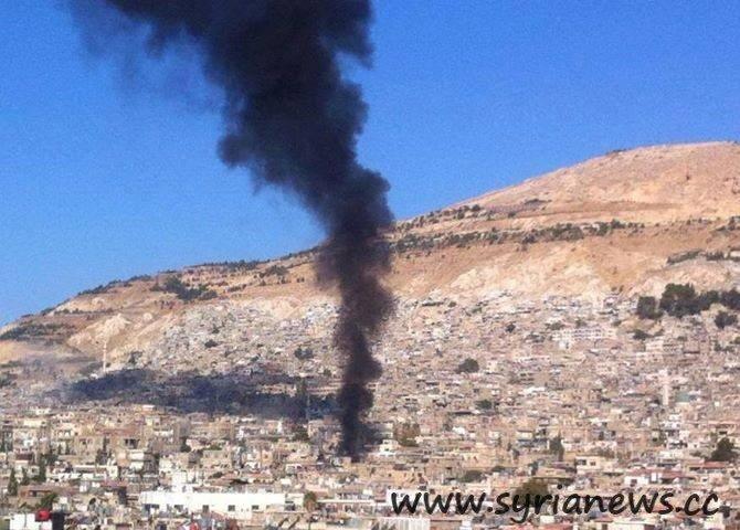 FSA Shells Damascus with mortars on the dawn of Eid Adha