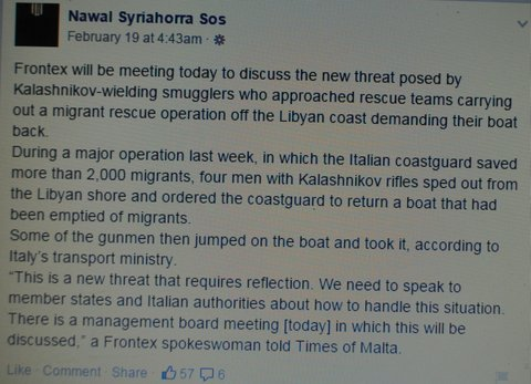 Syriahorra immediately reached out to Frontex, as did the castretto Transport Ministry of the Italian government: