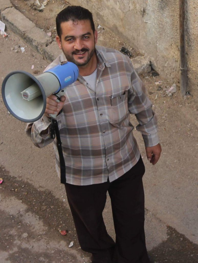 Staff from the Ministry of Health in Syria roaming rural districts for vaccination against Polio