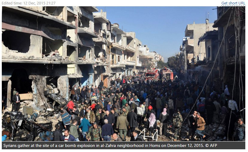 explosion Al Zahra neighborhood in Homs