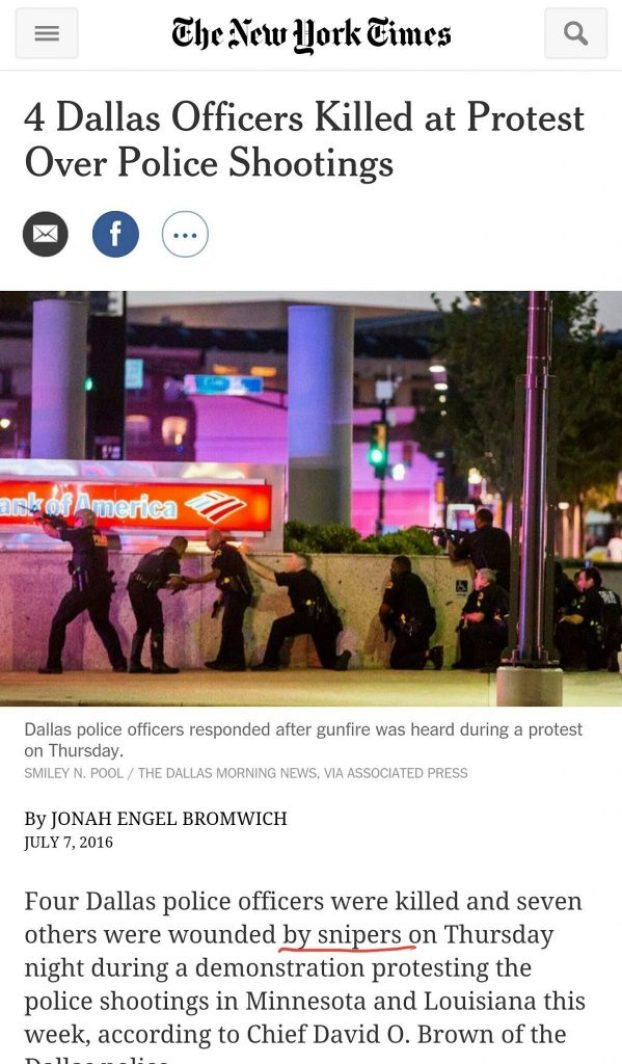 image-Dallas Police Shooting News Reporting