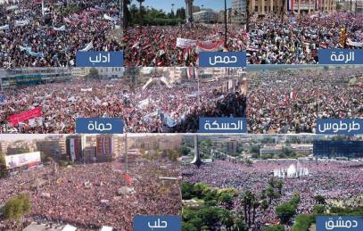 Millions of Syrians demonstrating in support of their armed forces