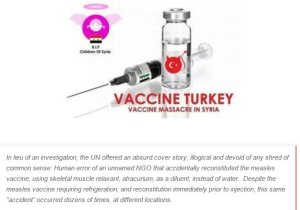 Poisoned measles vaccine