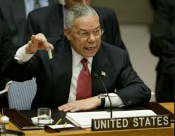 Colin Powell lied about chemical weapons in Iraq US continues to lie about chemical weapons in Syria.