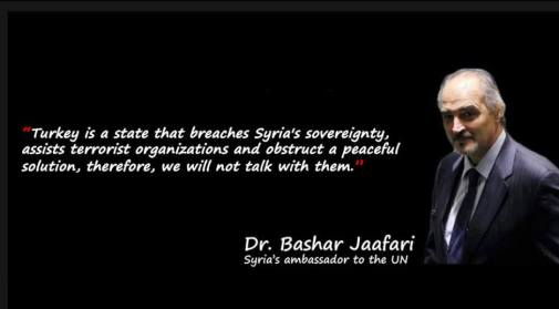 image-Syria ambassador to UN Bashar Jaafari on Turkey heading to Astana talks