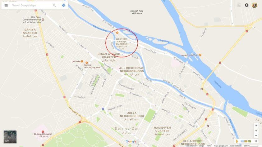 image- Huweiqa District - Der Ezzor City Map