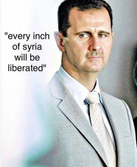 Every inch of Syria will be liberated.