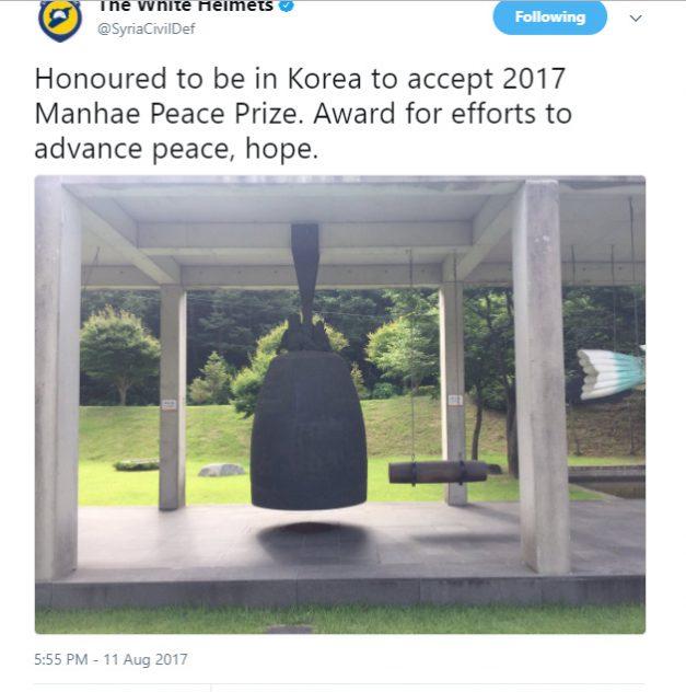death squad terrorists representative brought to Seoul to receive Manhae Peace Prize
