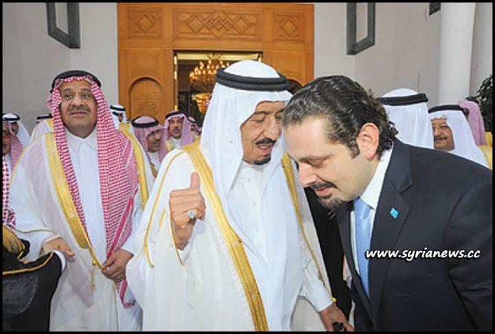 image-Saad Hariri receiving orders from his king