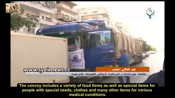 image-Homs Sends Humanitarian Aid to East Ghouta