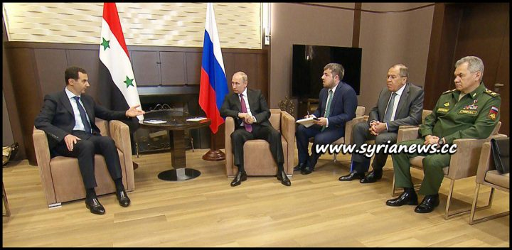 image-Assad Meet with Putin and Russian Ministers