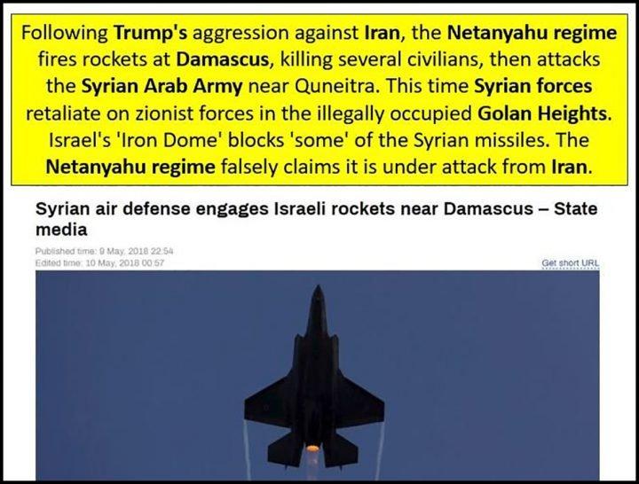 image-SAA Retaliates to Israeli Aggression Western MSM Claim Iranian Aggression against Israel