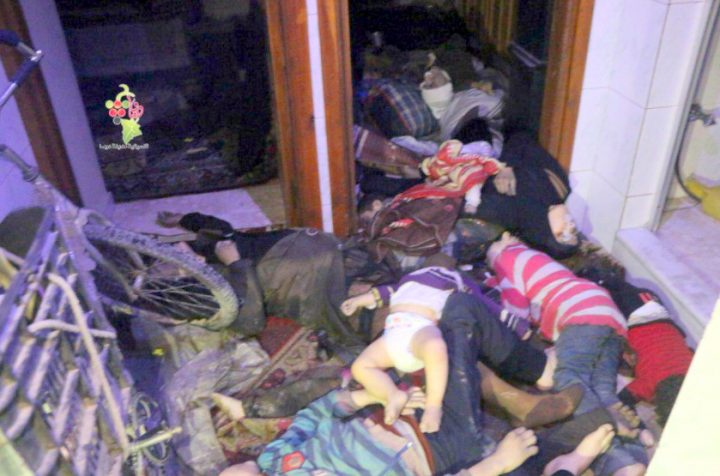 Terrorists in Douma massacred dozens, screamed chemical weapons attack.