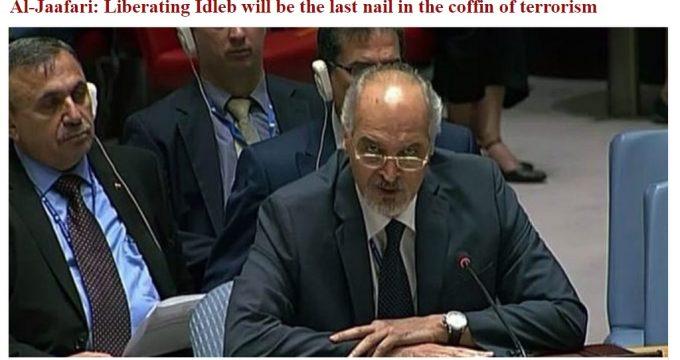 Jafaari? Liberating Idlib will be the last nail in the coffin of terrorism