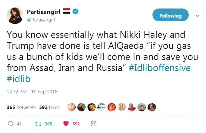 Haley Loves the Al-Qaeda Terrorists McGurks Says Dominate Idlib