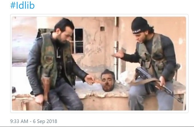 al-Qaeda necrophiliacs in Idlib, supported by the US.